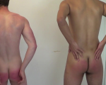 Taylor & Chris - Late For Their Spanking - Part Two