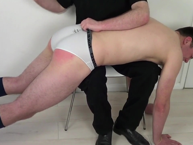 Gay spanking video of man getting spanked